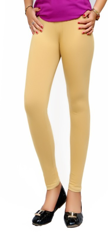 Lady in Red Legging(Beige, Solid)