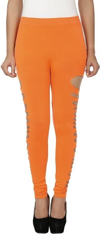 N-Gal Ankle Length  Legging(Orange, Solid)