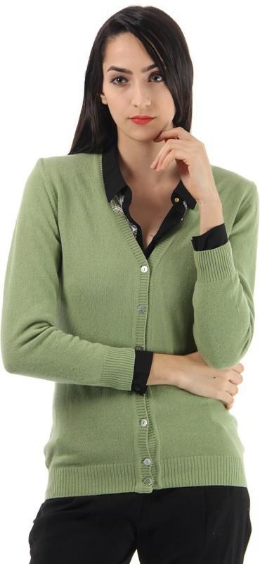 Monte Carlo Women's Button Solid Cardigan