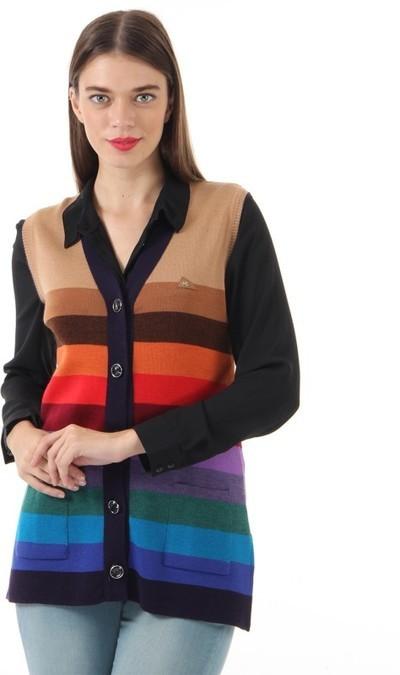Monte Carlo Women's Button Striped Cardigan